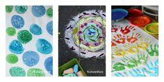 easy kids art projects - lots of good ideas