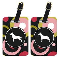 Pair of 2 Staffie Luggage Tags