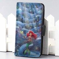 ariel at hole galaxy disney the little mermaid wallet case for iphone 4,4s,5,5s,5c,6 and samsung galaxy s3,s4,s5