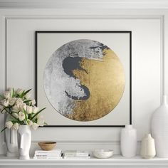 Circle Painting, Painting Frames, Painting Prints, Canvas Prints, Art Print, Abstract Paintings, Giclee Print, Abstract Art, Gold Wallpaper