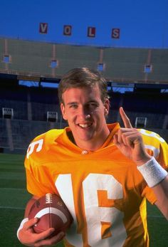Tennessee quarterback Peyton Manning...50 pins, originally pinned on Sporting News Photos - College Football board.