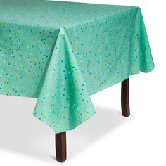 • Durable PEVA<br>• Polyester backing<br>• Easy maintenance<br>• Indoor/outdoor<br><br>The Summer Sprinkles Vinyl Tablecloth brings fun flair to your summer table thanks to its cute design. It helps protect your tabletop, too. Sturdy and stylish, this outdoor tablecloth is perfect for summer entertaining or everyday meals.