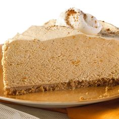 "Creamy Pumpkin Pie | Meals.com -  Pudding and whipped topping are the perfect combination to make your ""easy"" creamy pumpkin pie to end dinner on a sweet note. #pumpkinpie #thanksgiving #fall"