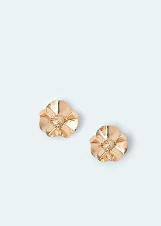 Boucles d'oreilles fleurs - Bijoux pour Femme | MANGO