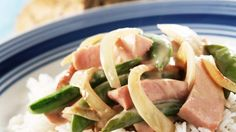 Oppskrift på Lett pølsegryte Frisk, Asparagus, Green Beans, Sausage, Vegetables, Dinners, Food, Dinner Parties, Studs