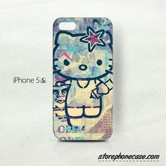 Obey Hello Kitty - iPhone 5 5S (3D) Cover Case