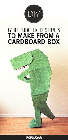 17 Halloween Costumes to Make a Cardboard Box #reuse #happyhalloween