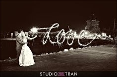 All you need is LOVE! Long Exposure wedding sparklers