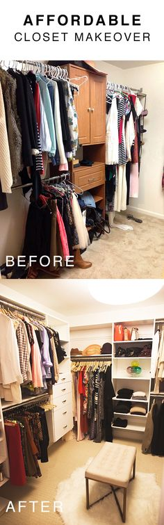 an affordable closet makeover using Easy Closets