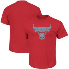 Chicago Bulls Majestic Reflective Tek Patch T-Shirt - Red