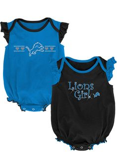 Girls Newborn Blue/Black Detroit Lions Homecoming Two-Pack Bodysuit, Infant Girl's, Size: Months, LNS Blue Detroit Lions T Shirts, Blue One Piece, Nfl Team Apparel, Baby Boy Newborn, Baby Girls, Baby & Toddler Clothing, Baby Blue, Homecoming, Bodysuit