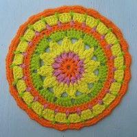 Crochet Mandala Wheel made by Karen, Kent, UK, for yarndale.co.uk
