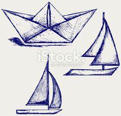 Transport nautique, Illustration et peinture, Bateau à voile, Pliage, Dessin stock vector art 21246232 - iStock - iStock FR