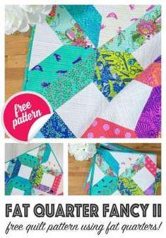 Modern Quilt Patterns, Quilt Block Patterns, Crochet Blanket Patterns, Sewing Patterns Free, Free Sewing, Jellyroll Quilt Patterns, Fat Quarter Quilt Patterns, Easy Quilt Patterns Free, Quilt Blocks