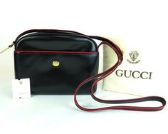 Gucci Leather Red Piping Hand Shoulder Bag. Get one of the hottest styles of the season! The Gucci Leather Red Piping Hand Shoulder Bag is a top 10 member favorite on Tradesy. Save on yours before they're sold out!