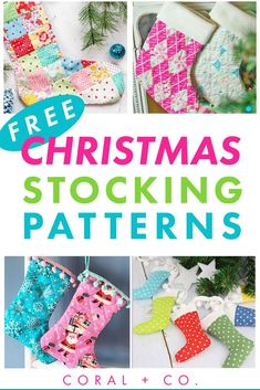 The BEST 25  FREE Christmas Stocking Sewing Patterns.  These patterns all come with a FREE Downloadable Printable Template and would make a great Christmas Sewing Gift.  Christmas Stockings are the perfect Christmas Sewing Project to Make for the Holidays! Traditional Christmas Stockings, Unique Christmas Stockings, Diy Christmas Garland, Christmas Stocking Pattern, Christmas Ideas, Merry Christmas, Christmas Printables, Christmas Crafts, Christmas Decorations