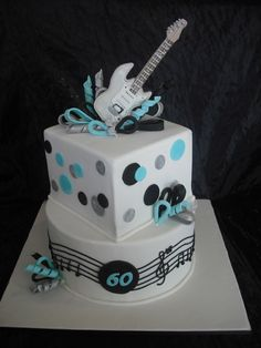 Blue Quinceanera Cake Ideas Pastel Blue and White Cake with