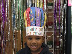 10 stickers on each strip + 10 strips... awesome 100th day hat :)