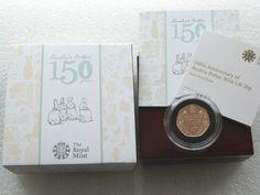 2016 Beatrix Potter 150th Anniversary 50p Fifty Pence Gold Proof Coin Box Coa
