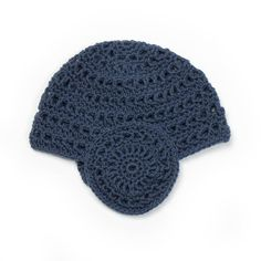 Brit Chic Signature — Leia Crochet Hat - Navy,,,,make it into a car for boys and into flowers for girls