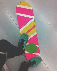 Colorful geometric #gripcut by @tenncat  #griptapeart #griptape #grip #customgrip #gripjob #gripart #pink #80s #colors #skateart #skatelife #skateboard