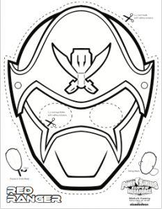 ranger samurai masks, printable mask, paper mask, power