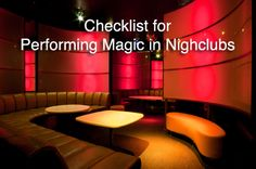 Performing Magic in Nightclubs