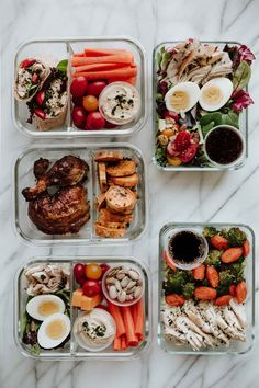 Rotisserie Chicken Meal Prep: 5 Easy Lunches 5 Easy Meals to Prep with 1 Rotisserie Chicken. Healthy lunches that help you clean out your fridge and save time! The post Rotisserie Chicken Meal Prep: 5 Easy Lunches appeared first on Gesundheit. Healthy Meal Prep, Healthy Drinks, Healthy Snacks, Eat Healthy, Healthy Work Lunches, Clean Eating Lunches, Easy Lunch Meal Prep, Weekly Meal Prep, Meal Prep Low Carb