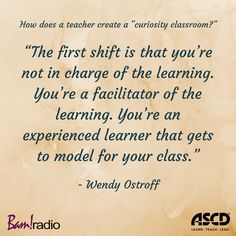"""What is a """"curiosity classroom"""" and how do you create one? Learn how on this podcast. Instructional Strategies, Instructional Design, Classroom Setup, Classroom Organization, Teacher Resources, Teaching Ideas, Deep Learning, Work Inspiration, Professional Development"""
