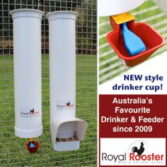 ROYAL ROOSTER Chicken / Poultry Coop - Waterer / Drinker & Feeder Set