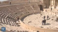 "Shocking destruction: Roman theater destroyed by Islamic State in Syria's #Palmyra. Ruins of the 2,000-year-old historic site stand testimony to the brutality of the jihadist group as it razed parts of Palmyra, a World Heritage Site once known as ""bride of the desert"". #FacebookLive #XinhuaLive"