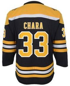 adidas Zdeno Chara Boston Bruins Player Replica Jersey, Big Boys (8-20) - Black L/X