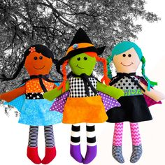 Little Witches The Red Boot Quilt Co. Cloth Doll Patterns
