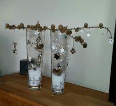 Weihnachten - Sterne im Glas   Silber Weiß