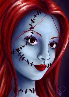 It's just a little sketch of a realistic looking sally from nightmare before chirstmas. Sally - Nightmare before christmas Disney Diy, Disney Fan Art, Disney Magic, Walt Disney, Tim Burton, Nightmare Before Christmas Dolls, Elsa, Halloween 2015, Halloween Ideas