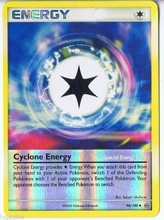 Pokemon Card Stormfront Reverse Holo Cyclone Energy 94/100 FREE combined ship see more of our cads for sale at http://stores.ebay.com/DDs-Pokemon-Card-and-Gift-Shop