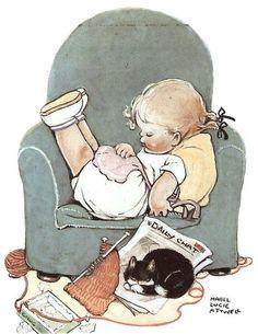 vintage Mabel Lucie Attwell illustration