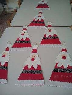 We're using ribbon for the belt. Everything else is fun foam. All pieces cut. The kids will glue together using white glue. Childrens Christmas Crafts, Christmas Art Projects, Preschool Christmas, Christmas Activities, Preschool Crafts, Christmas Makes, Noel Christmas, Christmas Gifts, Christmas Decorations