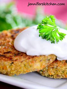 How to Cook Quinoa and Quinoa Patties   Jennifer's Kitchen - no egg version