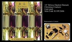Cym Cards. 6 x 14 inch Deluxe Crackers in Tray from Tom Smith Opulent Damask €16