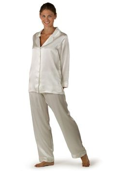 White Silk Pajamas Women's Sleepwear - Available in Natural White, Barely Pink, or Pearl Black - Morning Dew - The Ultimat...