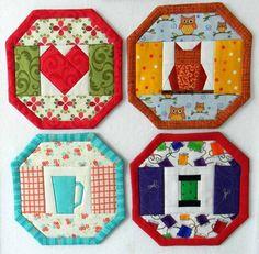 24 Mug Rug Designs in 1 Quilt Pattern NO Binding Coaster image 6 Small Quilts, Mini Quilts, Mug Rug Patterns, Quilt Patterns, Canvas Patterns, Paper Piecing, Quilting Projects, Sewing Projects, Art Quilting