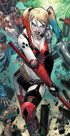 Harley Quinn Grit Your Teeth Comics Anime, Dc Comics Art, Comics Girls, Harley Quinn Drawing, Harley Quinn Cosplay, Joker And Harley Quinn, Hq Marvel, Marvel Movies, Harely Quinn