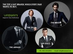 If you want to add some more dress #suits for men, the most obvious considerations are the fit and style of the suit. And most importantly, the suit must be branded as it is tied to taste and quality. The top brands of the #suits are as follows.