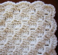 Crochet Border Sea Trail Grandmas: Preemie Crochet Blanket and Hat Horizontal Alternate Blocks Pattern With Scallop or Crab Stitch Crochet Border Crochet Blanket Border, Baby Afghan Crochet, Crochet Borders, Crochet Blanket Patterns, Crochet Stitches, Crochet Blankets, Baby Afghans, Crochet Edgings, Hat Patterns