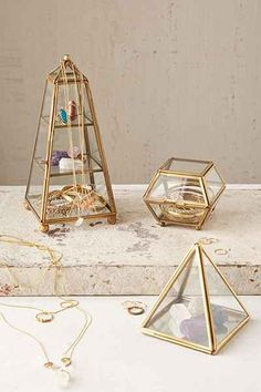 Magical Thinking Faceted Glass Vanity Box - Urban Outfitters
