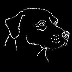 Womans T Shirt Labrador Retriever Rhinestone 6 X 5 Inches Graphic RWL0210