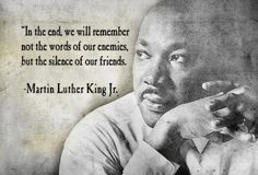 Mlk Quotes On Silence by @quotesgram