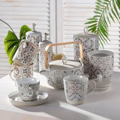 Nádherná novinka - keramika a porcelán s marokánskymi vzormi.   #keramika#porcelan#kuchyna#jedalen#moroko#marokanskevzory#vzory#orient Sugar Bowl, Bowl Set, Home, Ad Home, Homes, Haus, Houses
