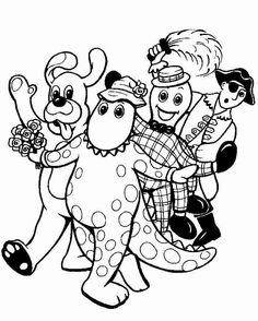 Costume Parade Wiggles Coloring Pages